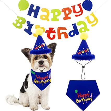 Amazon PAWCHIE Dog Birthday Decorations Kit