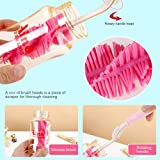 Ambition.h 6 PCS Sponge Bottle Brush Nipple Brush