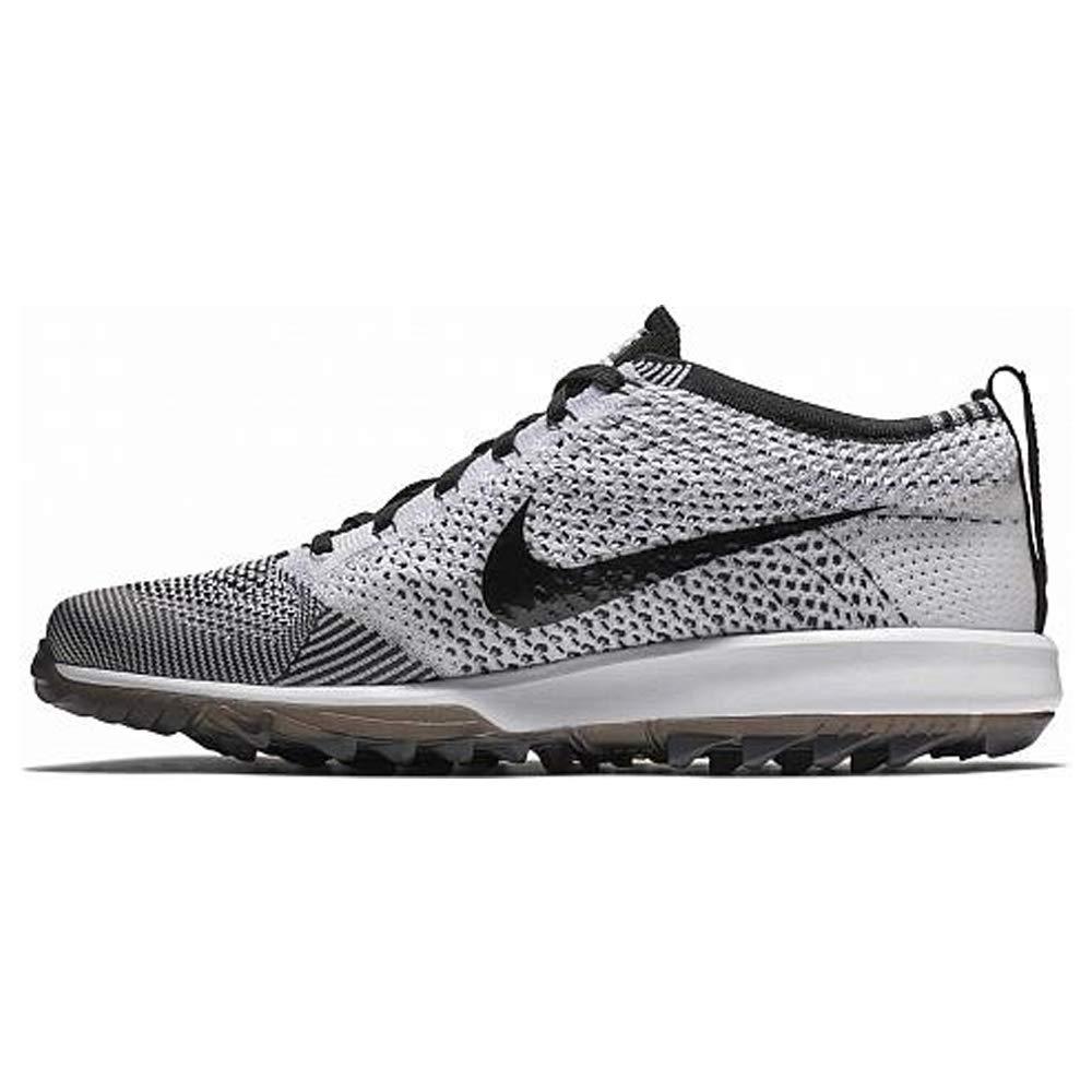 Nike Men's Flyknit Racer G Golf Shoes (10 M US, Black/White) by Nike