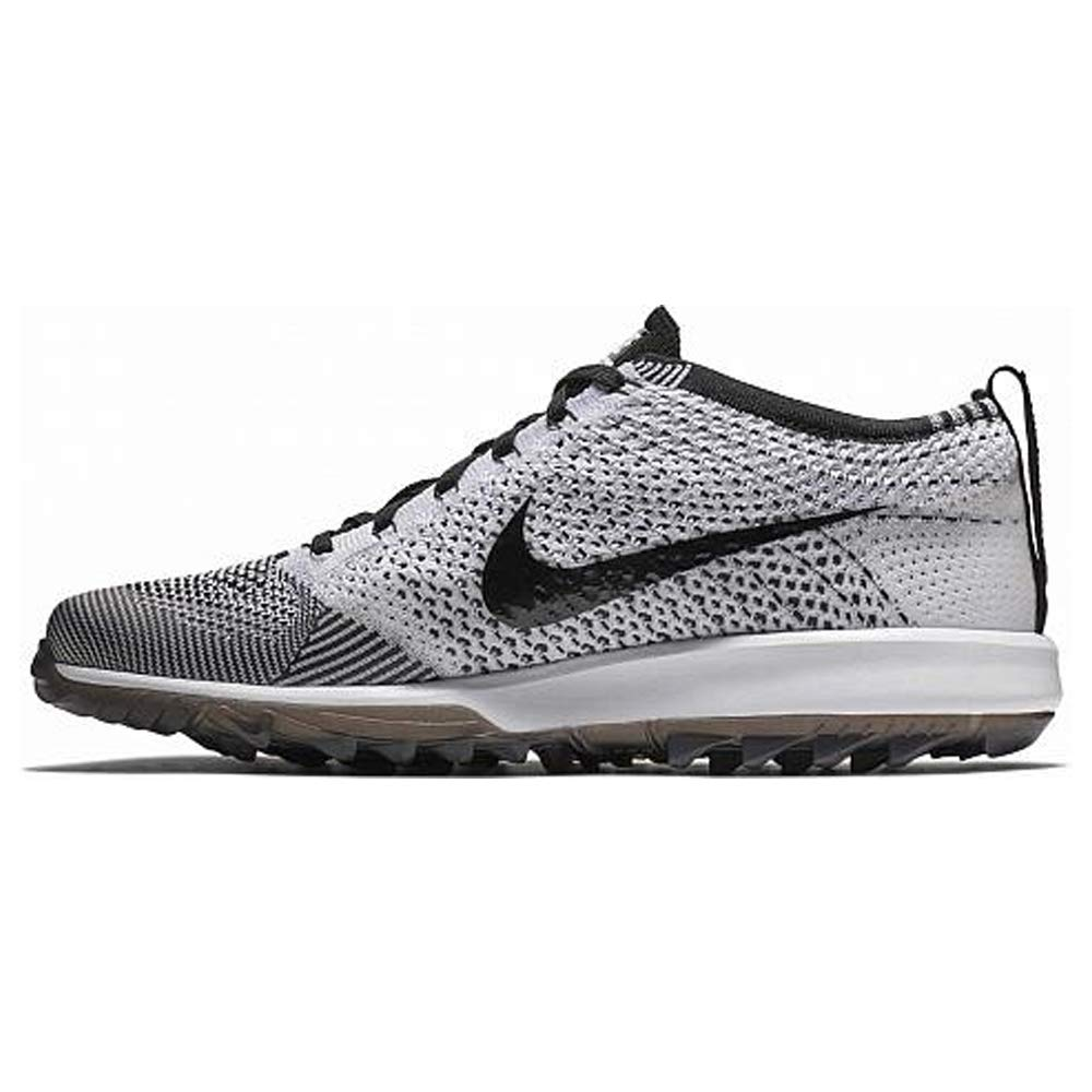 free shipping 245a5 25087 Amazon.com   Nike Mens Flyknit Racer G Golf Shoes (10.5 D(M) US) Black White    Golf