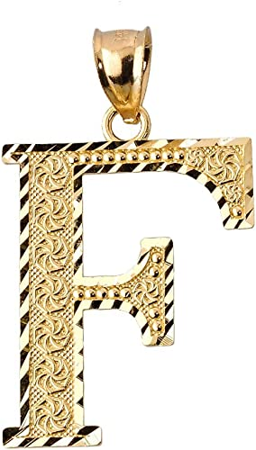 Charm America 14 Karat Solid Gold with Optional Gold Chain Gold Initial Letter T Charm
