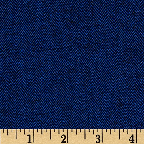 Herringbone Flannel Shirt - Kaufman Shetland Flannel Herringbone Navy Fabric By The Yard