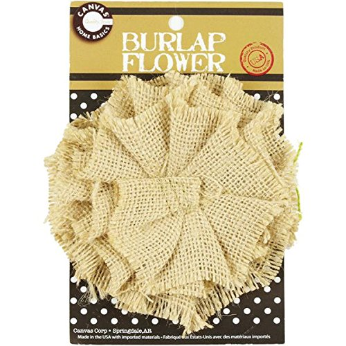 UPC 843094025944, Canvas Corp CVS2594 Burlap Flower, 4-Inch, Sand