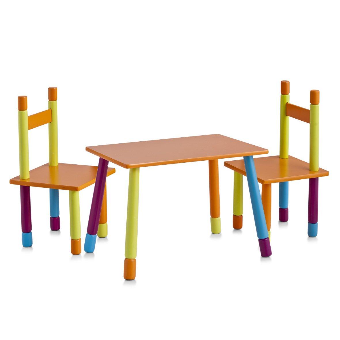 Zeller Color 13455 Gruppo da tavolo per bambini, in MDF, 40x60x42 cm, 28x28x53 cm, 3 pezzi