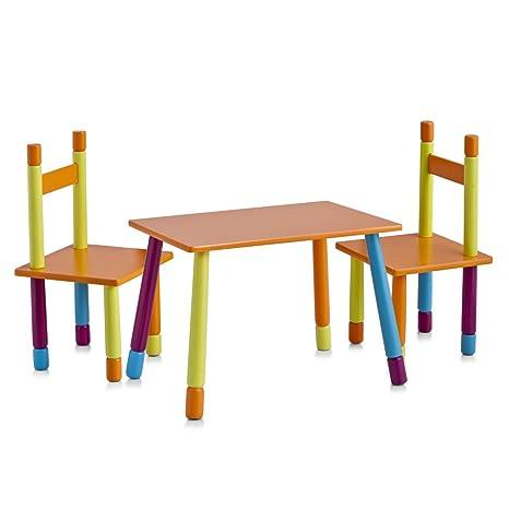 Zeller 13455 Color - Juego de mesa y sillas infantiles (tablero DM, 3 piezas