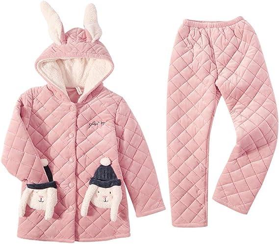 Bayrick Pijama Sexy Mujer Invierno,Invierno Coral Polar Pijamas ...