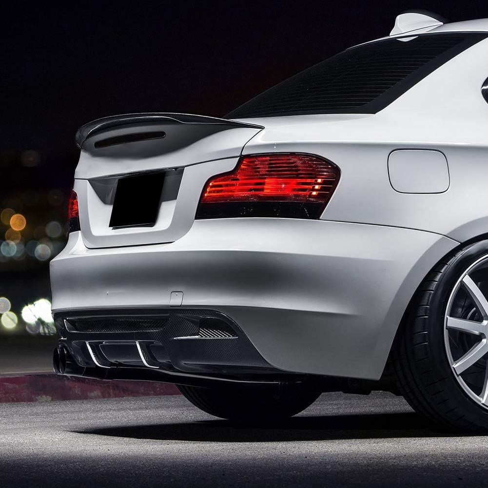 1er E88 Cabrio gl/änzend schwarz Terisass Heckspoiler AMG Style Spoiler Protector Lip Fit f/ür BM-W 1er E82 Coup/é Cabrio