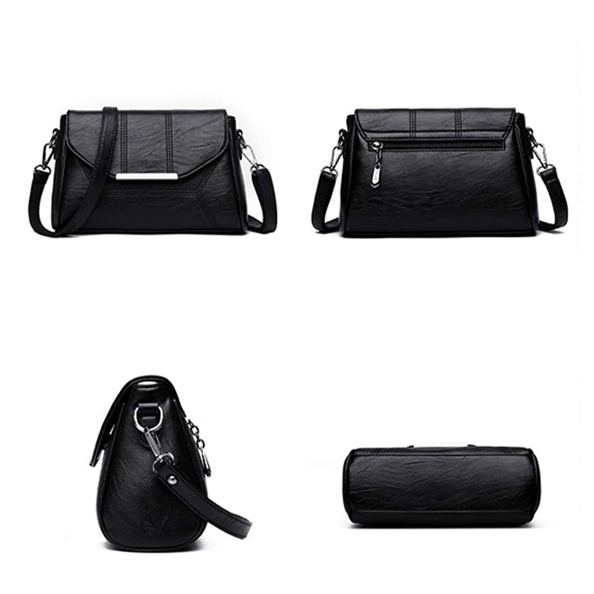 65dff680e337b ... Damen Shopper Shopper Shopper Tasche Umhängetasche EXULL-8088 Mittel  Schultertasche PU Leder Handtasche Frauen Reisetasche ...