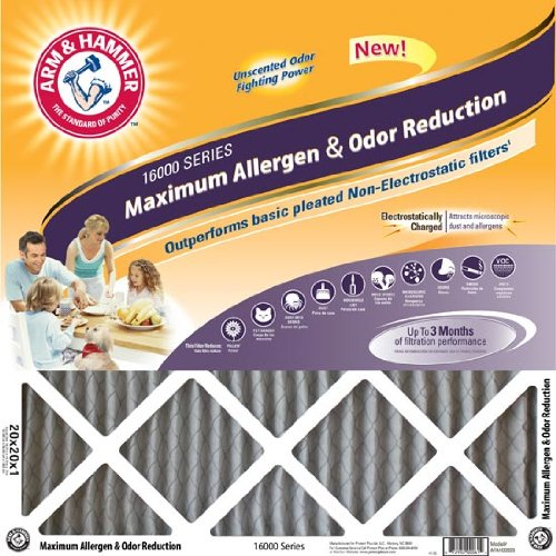 - 14x24x1 Arm and Hammer; Max Allergen Air Filter, MERV 11