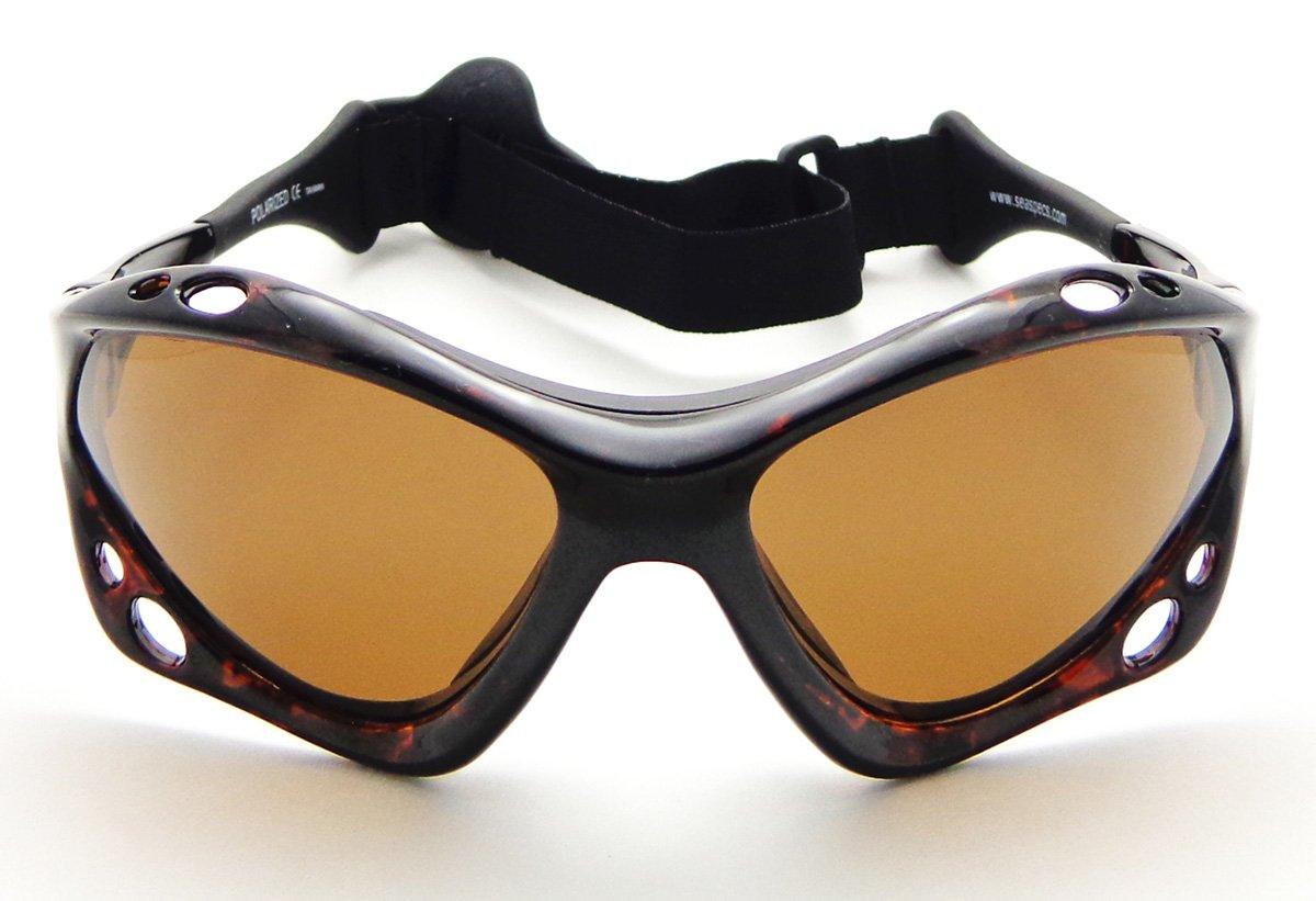 d53237d6f4b Amazon.com  SeaSpecs Classic Tortuga Specs Tortoise Shell Brown Lens Water  Sunglasses w Semi Rigid Case Bundle (5 Items)+ Flex Clip Case + Soft Carry  Pouch ...