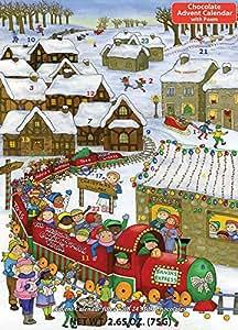Santa's Express Chocolate Advent Calendar & Poem,2.65 OZ