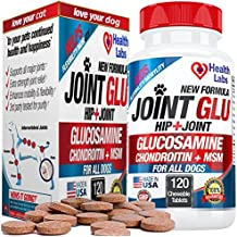 Best Strength Glucosamine Chondroitin for Dogs to Extend Hip and Joint Care Health for Canines and Provide Natural Arthritis Pain Relief for Dogs - by The Health Labs