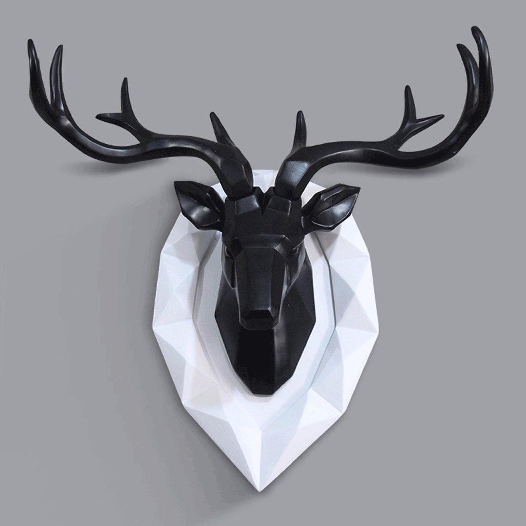 ウォールデコレーションスタイルの壁吊りクリエイティブリビングルームウォール服店舗バーの壁の装飾ペンダントの敬意に満ちた北欧スタイル(53 * 19センチメートル) Xuan - worth having (色 : ブラック) B07DK4G2F4 13613  ブラック