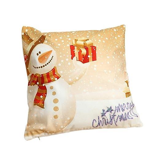 guangtian Decorativa Decoración Cojín A Feliz Navidad ...