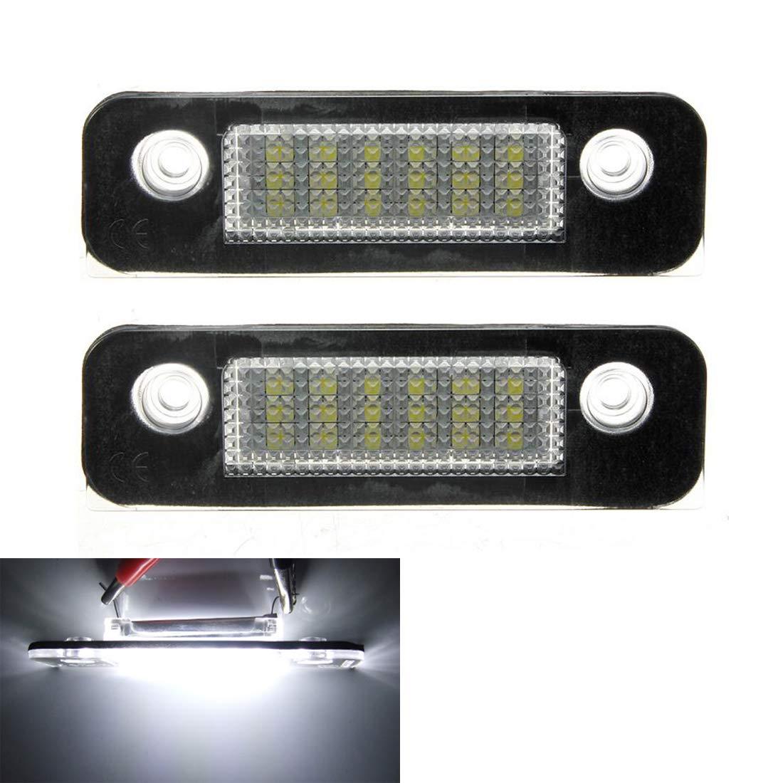 Canbus sans Erreur Blanc 6000K 18SMD LED Lumi/ère pour F-ord Mondeo//MK2 for Fiesta MK5 VIGORFLYRUN PARTS LTD 2Pcs LED Lumi/ère de Plaque dimmatriculation
