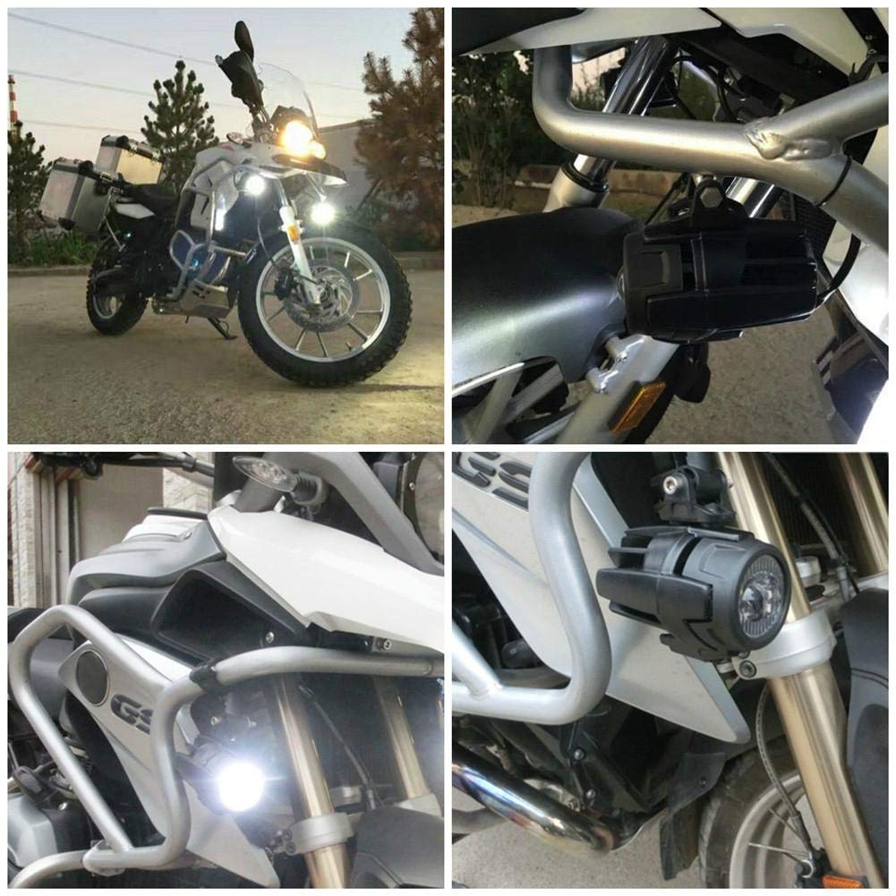 cuffslee Motorcycle Fog Light LED Fog Light Fog Light with Light Protection Cable Kit for Wiring Harness