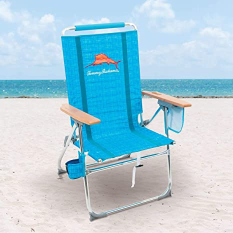 Awesome Amazon Com Tommy Bahama 7 Position Hi Boy Beach Chair Blue Pabps2019 Chair Design Images Pabps2019Com