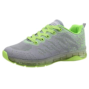 Zapatos deportes de malla corre de mujer,Sonnena ❤ Volar zapatos tejidos Zapatillas de deporte con cojines de aire Calzado de running Net para ...