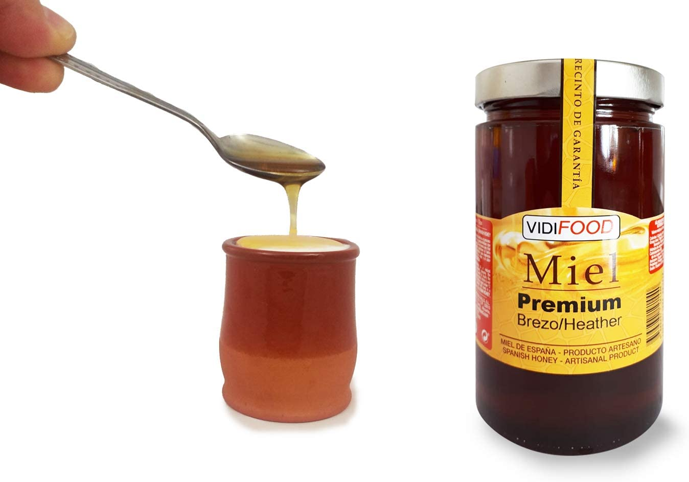 Miel de Brezo Premium - 1kg - Producida en España - Alta Calidad, tradicional & 100% pura - Aroma Intenso y Sabor Rico y Dulce - Amplia variedad de Deliciosos Sabores: Amazon.es: Alimentación y bebidas