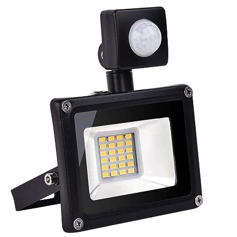 Yuanline 20W LED Proyector,el Detector de Sensor Movimiento Impermeable IP65 de Llevó la Lámpara