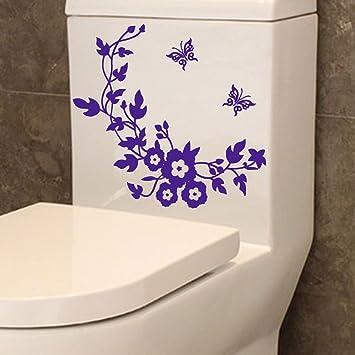 Ouneed® Wandaufkleber Wandtattoo Wandsticker , Blumen-WC-Sitz-Wand ...