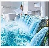 3D Wallpaper Floor PVC Mural 3D PVC Flooring Custom Wall Paper Ceramic 3D Bathroom Flooring Falls The Living Room Murals Wallpaper for Walls 3D 200x140cm,Ayzr