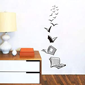Open Book Wall Sticker Reading Book Wall Art Decor Removeable Quote Vinyl Wall Art Decals