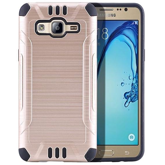 sports shoes d1f11 9061b Amazon.com: Samsung Galaxy On5 (MetroPCS) Case - [Gold] Slim Dual ...