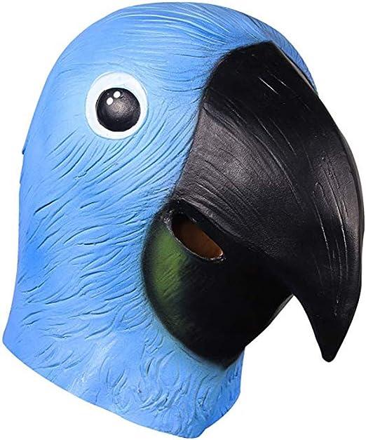 QMMD Máscaras de Cabeza de Animal de Halloween - Máscaras de Loro ...
