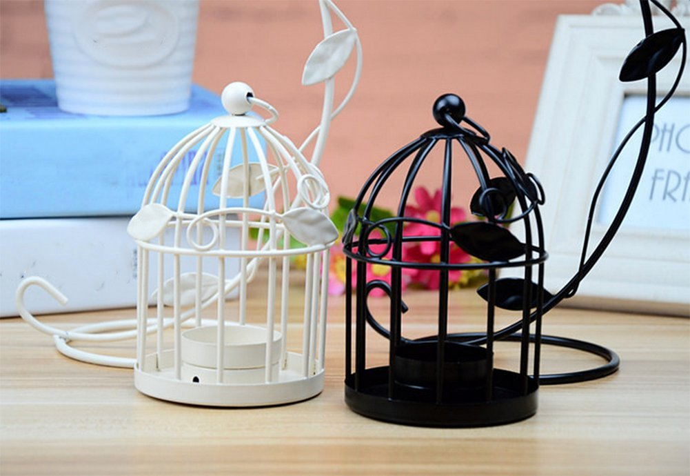 LAAT Candle Holder Birdcage-shape Metal Tealight Lanterns LED Wedding ChristmasTable Home Decoration by LAAT (Image #5)