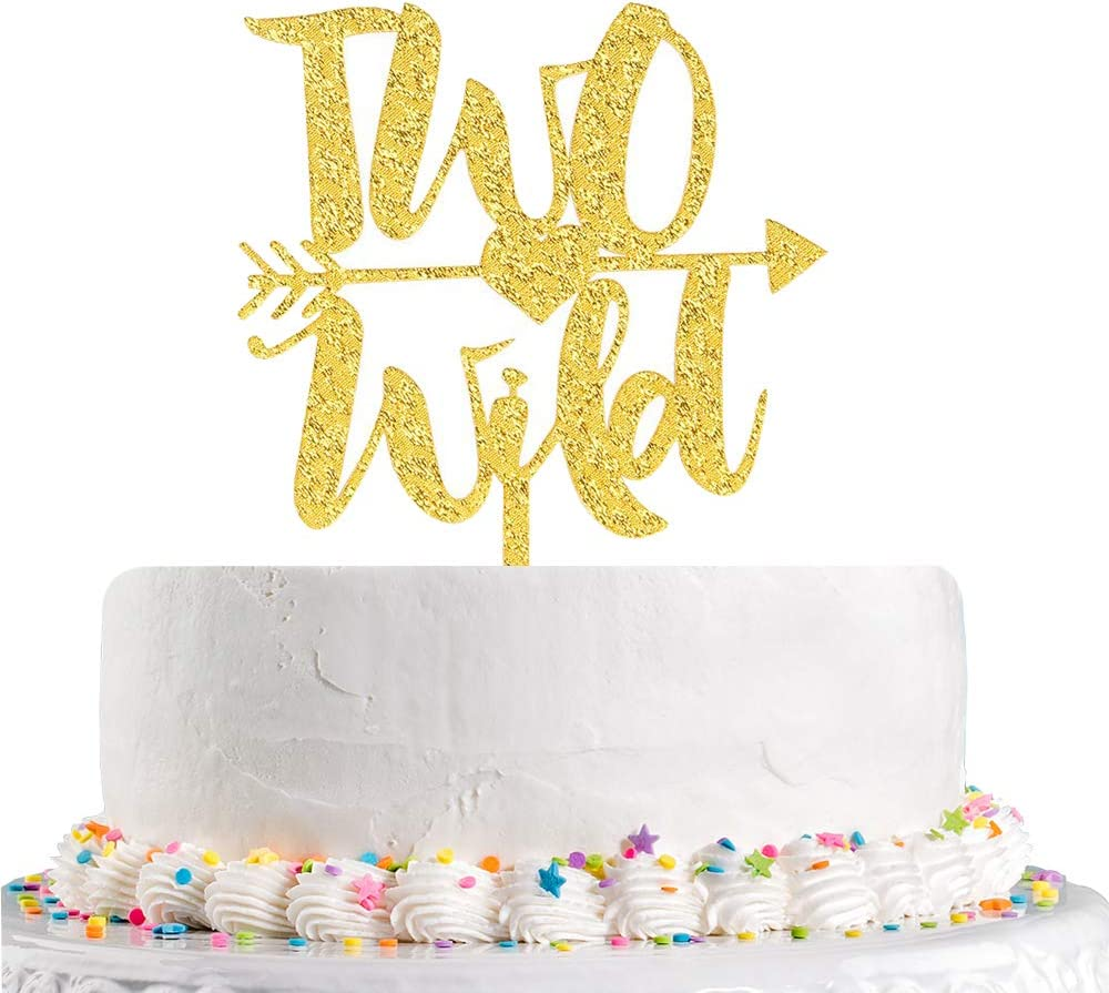 Fantastic Amazon Com Wild Two With Arrow Cake Topper 2Nd Birthday Cake Funny Birthday Cards Online Elaedamsfinfo