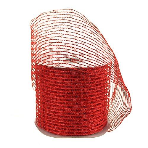 Homeford FCR000WSN2102250 - Cinta elástica de malla con cable, 6,35 cm, color rojo