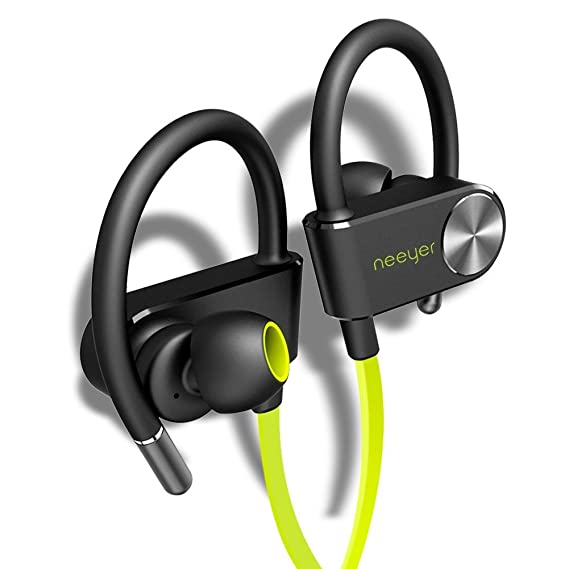 Neeyer Bluetooth Headphones, Wireless Sports Earphones with microphone, Waterproof bluetooth Earbuds for Workout,