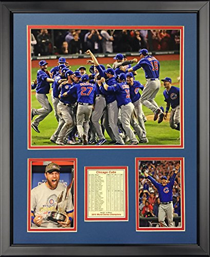 Legends Never Die 2016 MLB Chicago Cubs World Series Champions Celebration Framed Photo Collage, 16