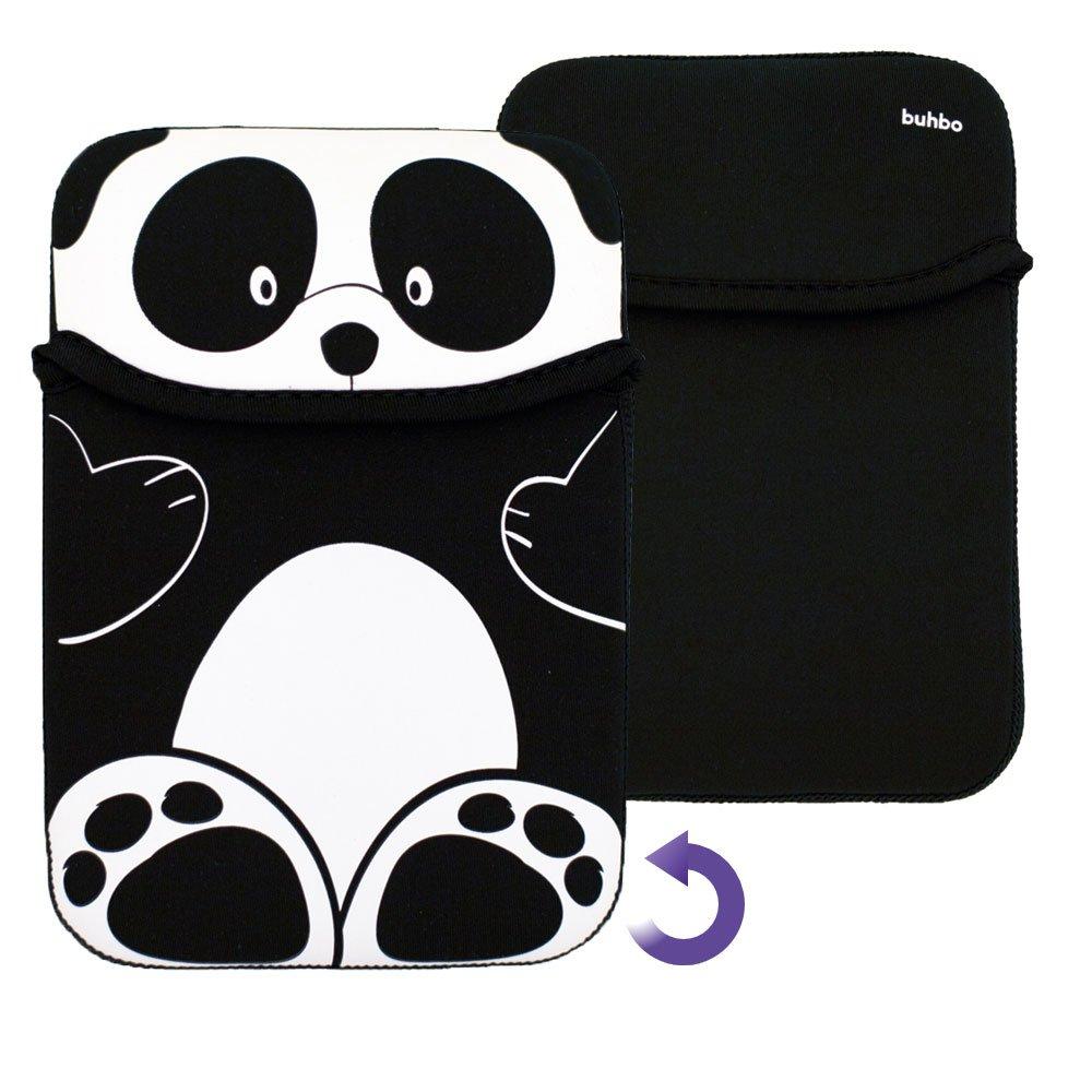Buhbo Universal Reversible Neoprene Sleeve Cover for Kindles and eReaders, Black Panda by Buhbo (Image #4)