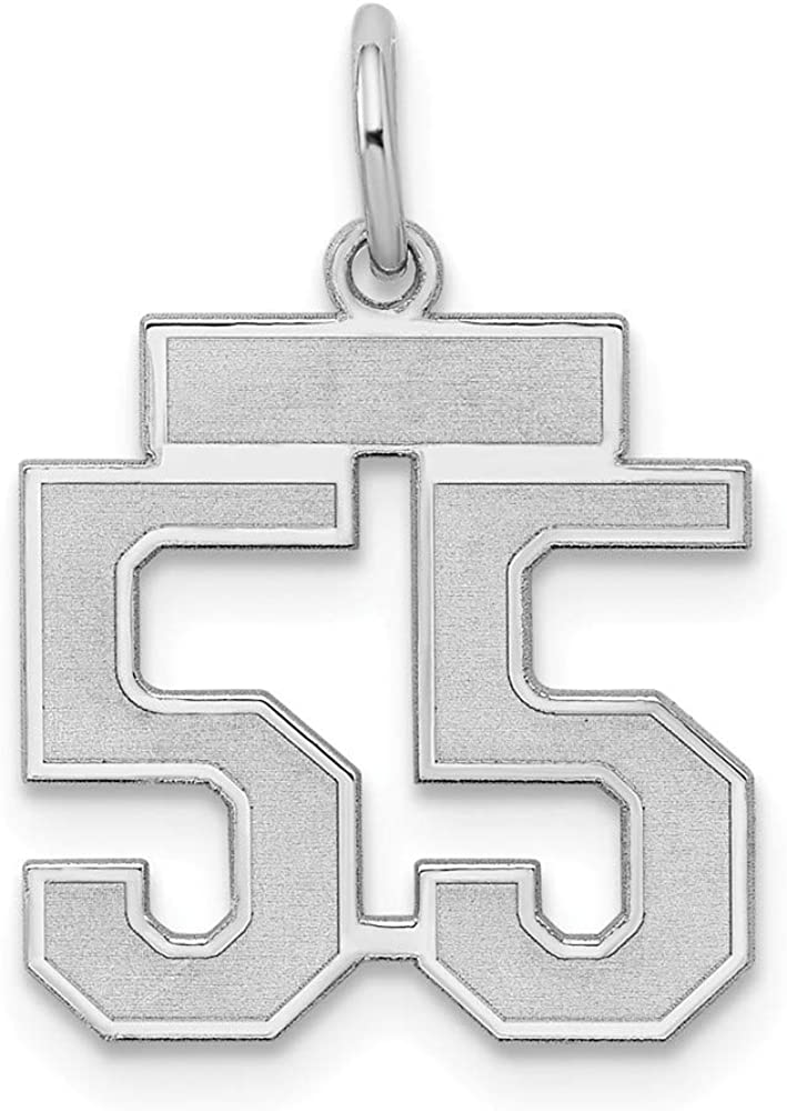925 Sterling Silver Rhodium-plated Laser-cut University of Alabama Small Dog Tag Pendant