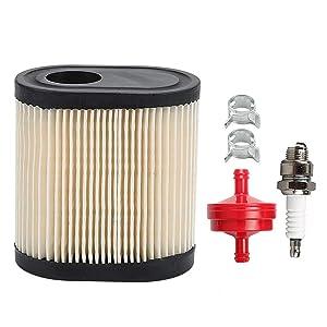 Milttor 36905 Air Filter Spark Plug Fit Tecumseh 740083A Air Filter AH600 AV600 LEV100 LEV115 LEV120 LV195EA OVRM65 OVRM105 OVRM65 OVRM120 TVS115 TVS120 Craftsman Toro Lawn Mower