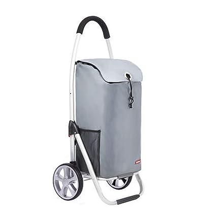 HHWJJXB Carrito de la Compra de Aluminio Carro de Compras Que Sube Cochecito de bebé Cochecito