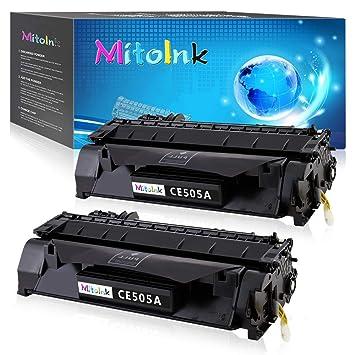 Amazon.com: MitoInk CE505A - Cartucho de tóner para ...