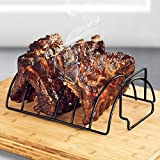 Octorc Non-Stick Stainless Steel BBQ Tools Steak Holders Rack Grill Stand Roasting BBQ Rib Rack Kitchen Accessories