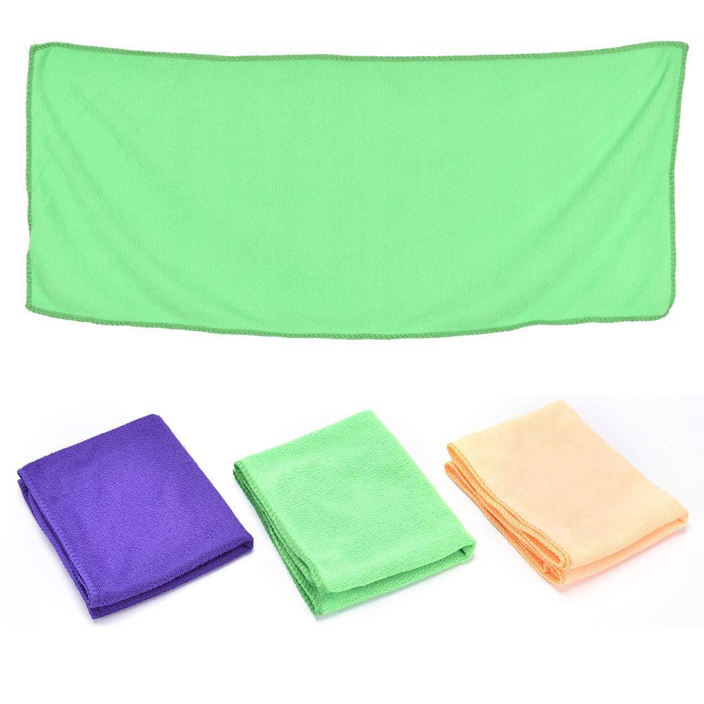 Dengguoli 2 Pieces Soft Microfiber Pet Cat Bath Towel Dog Water Bath Fast Drying Absorbent Towel,70cmx30cm,Random Color