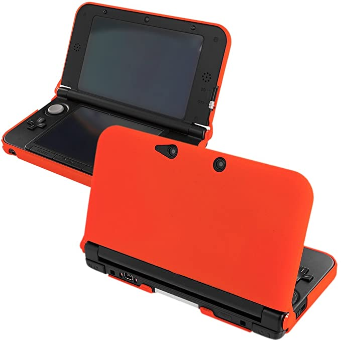 Naranja carcasa rígida de goma para Nintendo 3DS XL: Amazon ...
