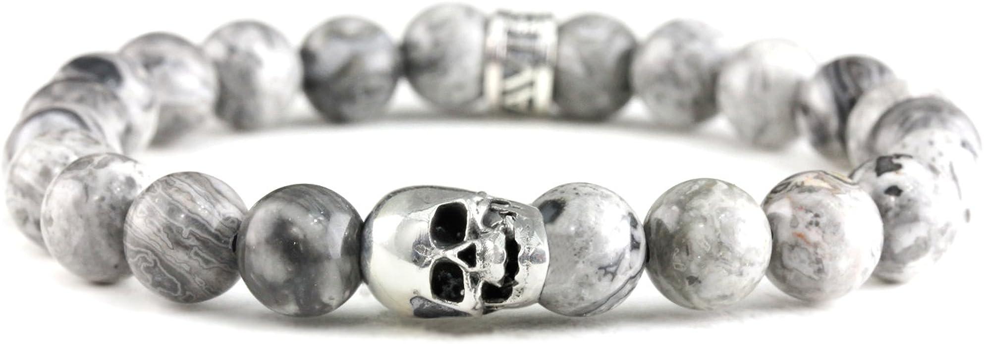 Acheter bracelet tete de mort online 9