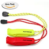 RAYVENGE safety whistle with lanyard for Boating Hiking Kayak Emergency Survival Life Vest Rescue Signaling