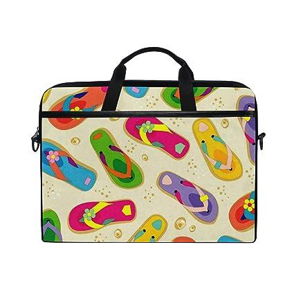 bcc961134886 Amazon.com: Colorful Flip Flops Laptop Bag Travel Briefcase with ...