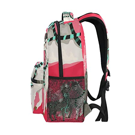 Amazon.com: Mochilas Escolares Cartoon Llamas In Love Bolsas ...