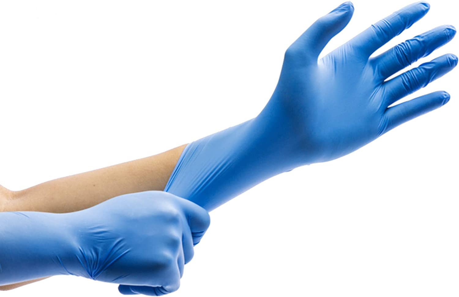 Steelbird Disposable Nitrile Gloves Hand Protection Rubber Glove for  Hospital, Clinic, Sanitary & Kitchen (25 Pair, Large 10.5 cm): Amazon.in:  Home Improvement