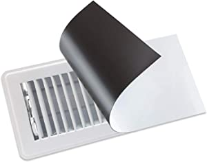 Strong Magnetic Vent Covers - Thick Magnet for Standard Air Registers - for RV, Home HVAC, AC, and Furnace Vents - Pure White Magnetic Sheet - 8 inch X 15 inch (6 Pack)