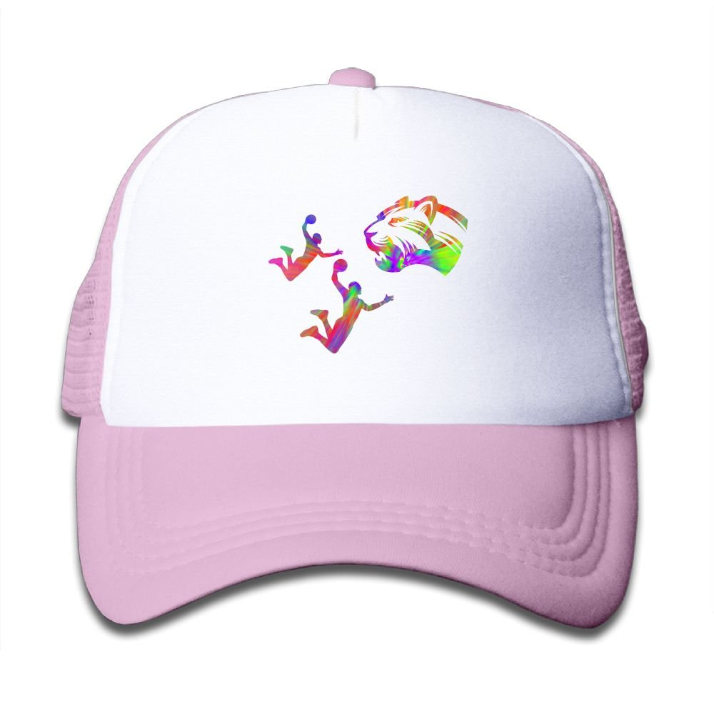 SDRG5 Leopard Play Basketball Dunk Tie Dye Child Baby Kid Adjustable Trucker Hat Summer Baseball Cap