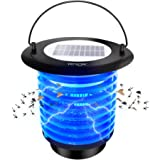 Bug Zapper Solar powered Electrical Fly Trap VENSMILE Waterproof Mosquito Killer with Night Light for Home, Indoor and Outdoor Use (Upgrade)